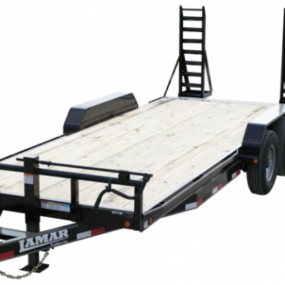 Call 780-831-0063 to rent this 20′ Equip Trailer w/ ramps today!