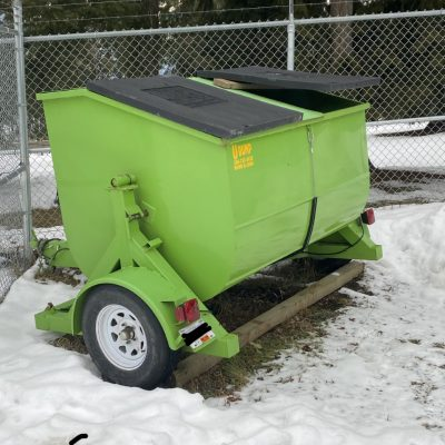 Call 780-831-0063 to rent this U-Dump Towable Garbage Bins today!