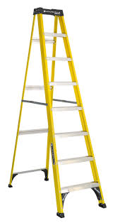 Call 780-831-0063 to rent this 8′ Fiberglass Step Ladder today!