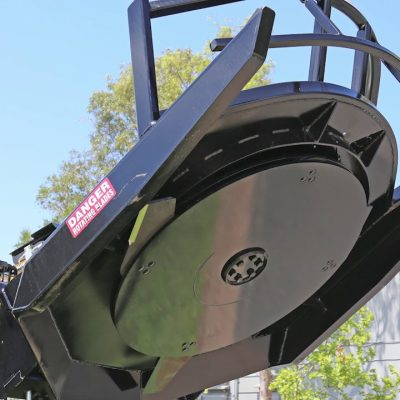 Call 780-831-0063 to rent this Low Flow Brush Mower today!