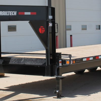 Call 780-831-0063 to rent this 24′ Tridem Gooseneck Equipment Trailer today!